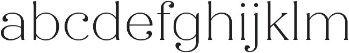 Quiche Flare Thin otf (100) Font LOWERCASE