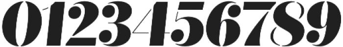 Quiche Stencil Black Italic otf (900) Font OTHER CHARS