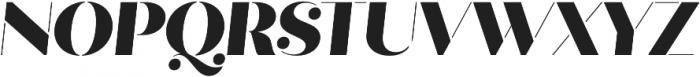 Quiche Stencil Black Italic otf (900) Font UPPERCASE