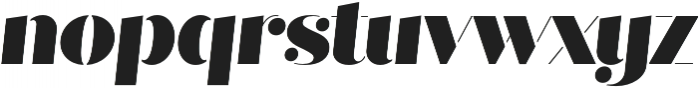 Quiche Stencil Black Italic otf (900) Font LOWERCASE