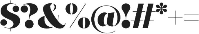Quiche Stencil Black otf (900) Font OTHER CHARS