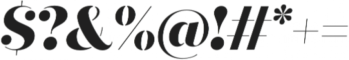 Quiche Stencil ExtraBold Italic otf (700) Font OTHER CHARS