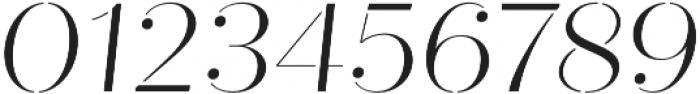 Quiche Stencil Light Italic otf (300) Font OTHER CHARS