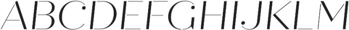 Quiche Stencil Light Italic otf (300) Font UPPERCASE