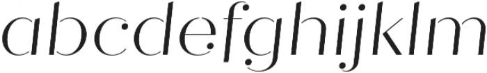 Quiche Stencil Light Italic otf (300) Font LOWERCASE