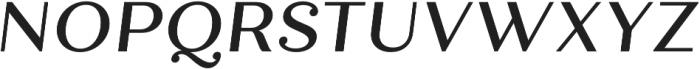 Quiche Text Medium Italic otf (500) Font UPPERCASE