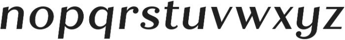 Quiche Text Medium Italic otf (500) Font LOWERCASE