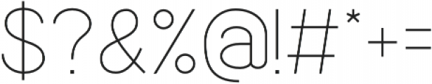 Quick-Light otf (300) Font OTHER CHARS