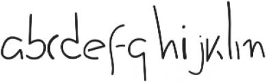 Quick handwritten font otf (400) Font LOWERCASE