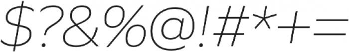 Quiet Sans ExtraLight Italic otf (200) Font OTHER CHARS