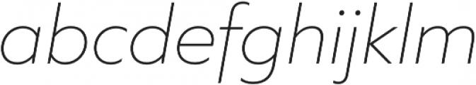 Quiet Sans ExtraLight Italic otf (200) Font LOWERCASE
