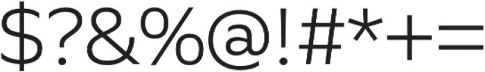 Quiet Sans Light otf (300) Font OTHER CHARS