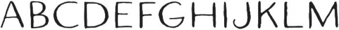 Quimbly Regular otf (400) Font UPPERCASE