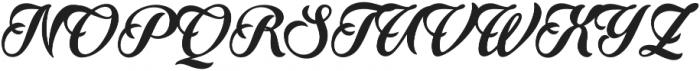 Quincho Script otf (400) Font UPPERCASE