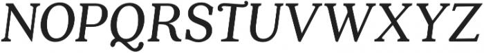 Quincy CF Text Italic otf (400) Font UPPERCASE