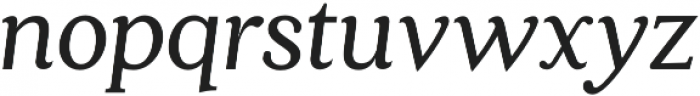 Quincy CF Text Italic otf (400) Font LOWERCASE