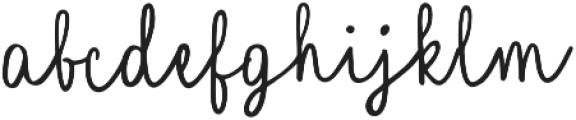Quincy Regular otf (400) Font LOWERCASE
