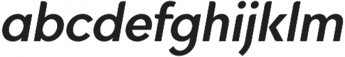 Quinlee Sans Italic otf (400) Font LOWERCASE