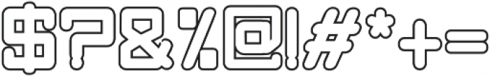 Quint Bold Outline otf (700) Font OTHER CHARS