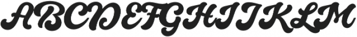 Quintal Script otf (700) Font UPPERCASE