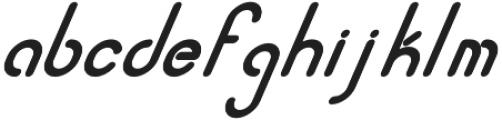 Quirk Italic otf (400) Font LOWERCASE
