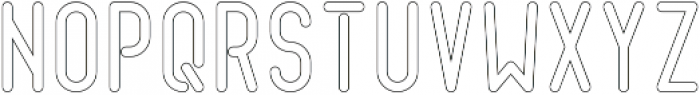Quirk ThickOutline otf (400) Font UPPERCASE