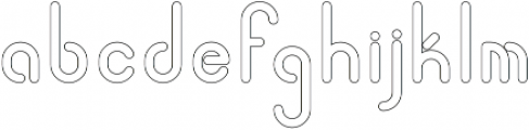 Quirk ThickOutline otf (400) Font LOWERCASE