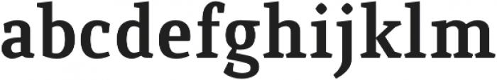 Quiroga Serif Pro Bold otf (700) Font LOWERCASE
