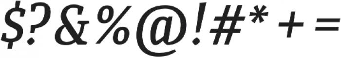 Quiroga Serif Pro DemiBold Italic otf (600) Font OTHER CHARS