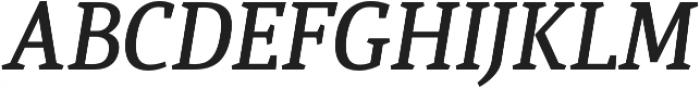 Quiroga Serif Pro DemiBold Italic otf (600) Font UPPERCASE