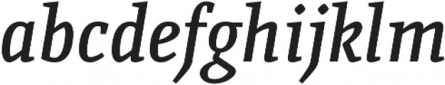 Quiroga Serif Pro DemiBold Italic otf (600) Font LOWERCASE