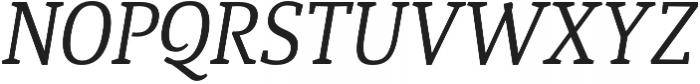 Quiroga Serif Pro Italic otf (400) Font UPPERCASE