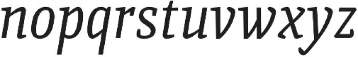 Quiroga Serif Pro Italic otf (400) Font LOWERCASE