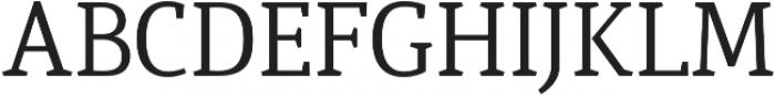 Quiroga Serif Pro Regular otf (400) Font UPPERCASE