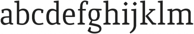 Quiroga Serif Pro Regular otf (400) Font LOWERCASE