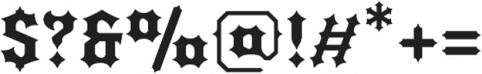 Quorthon Black III otf (900) Font OTHER CHARS