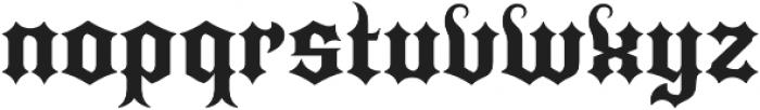 Quorthon Black III otf (900) Font LOWERCASE