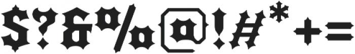 Quorthon Black IV otf (900) Font OTHER CHARS