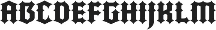 Quorthon Black IV otf (900) Font UPPERCASE