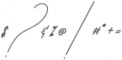 Qurates Signature Two otf (400) Font OTHER CHARS