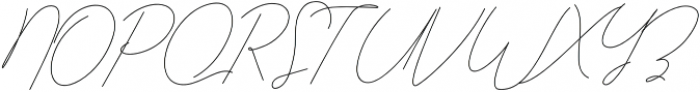 Qurates Signature otf (400) Font UPPERCASE
