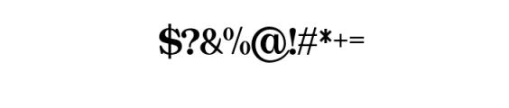 Quality Regular.otf Font OTHER CHARS