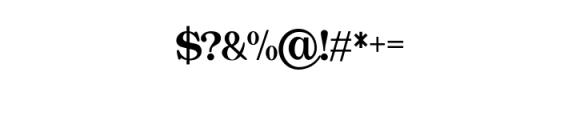 Quality Regular.ttf Font OTHER CHARS