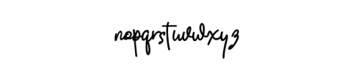 Quality Signature.ttf Font LOWERCASE