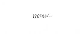 quenbeesalt.ttf Font OTHER CHARS