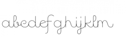 Quaderno Noodle10 Font LOWERCASE