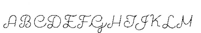 Quaderno Slanted Noodle Slanted 20 Font UPPERCASE
