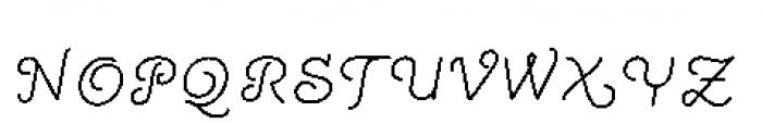 Quaderno Slanted Noodle Slanted 33 Font UPPERCASE