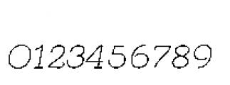 Quaderno Slanted Slanted 10 Font OTHER CHARS
