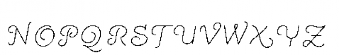 Quaderno Slanted Slanted 10 Font UPPERCASE